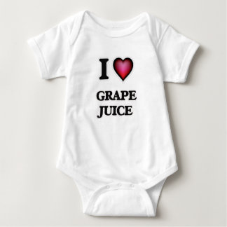 I Love Grape Juice Baby Bodysuit