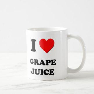 I Love Grape Juice Food Coffee Mugs