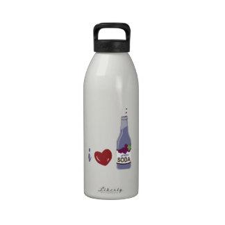 I Love Grape Soda Reusable Water Bottle