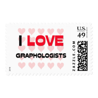 I LOVE GRAPHOLOGISTS STAMPS