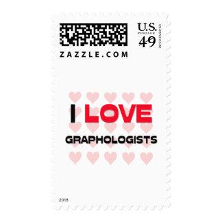 I LOVE GRAPHOLOGISTS POSTAGE STAMPS