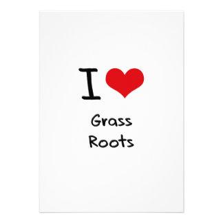 I Love Grass Roots Invitation