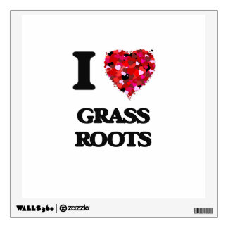 I Love Grass Roots Wall Skins