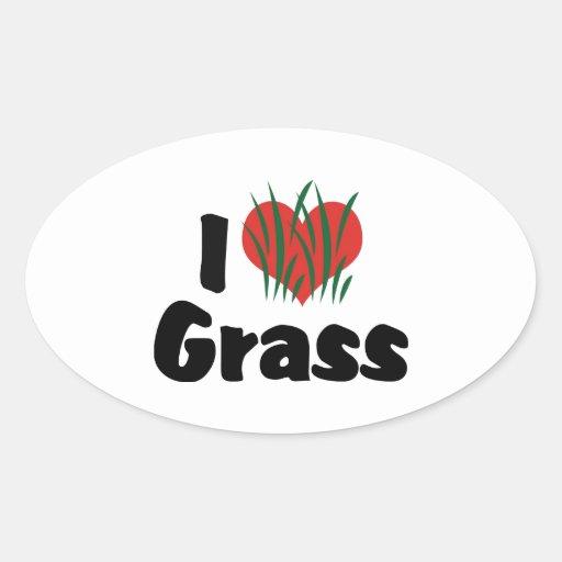 I Love Grass Sticker