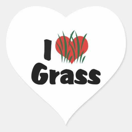 I Love Grass Stickers
