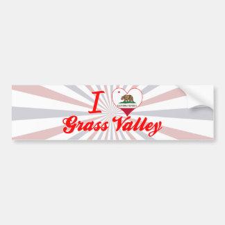 I Love Grass Valley, California Bumper Stickers