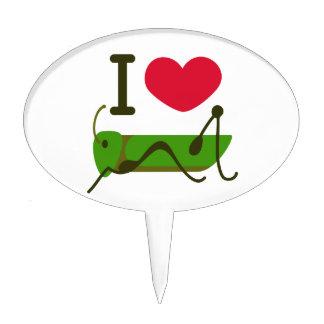 I Love Grasshopper Cake Topper