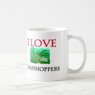 I Love Grasshoppers Classic White Coffee Mug