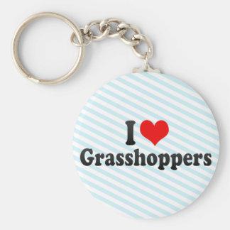 I Love Grasshoppers Keychain