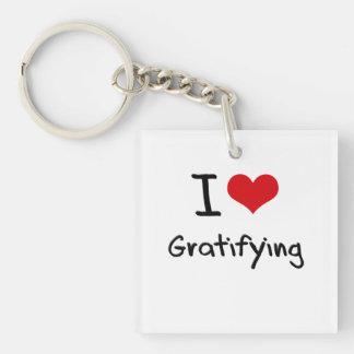 I Love Gratifying Single-Sided Square Acrylic Keychain