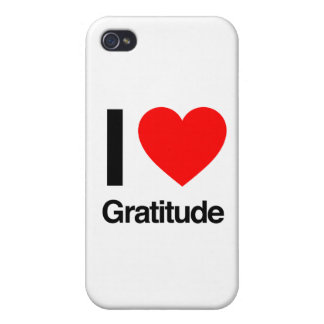 i love gratitude iPhone 4/4S cases