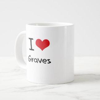 I Love Graves Jumbo Mug