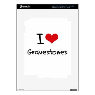 I Love Gravestones Decal For iPad 3