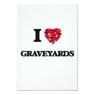 I Love Graveyards 3.5x5 Paper Invitation Card