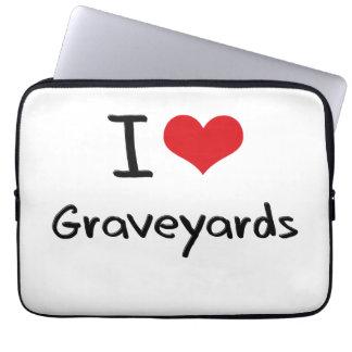 I Love Graveyards Laptop Sleeves