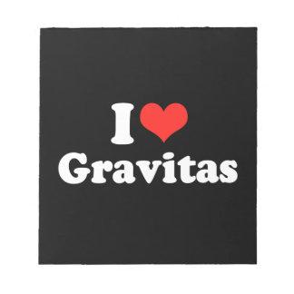 I LOVE GRAVITAS png Memo Notepad