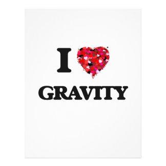 "I Love Gravity 8.5"" X 11"" Flyer"