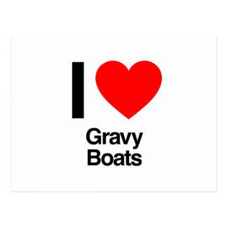 i love gravy boats postcard