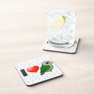 I Love Gray-headed Lovebirds Drink Coaster