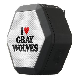 I LOVE GRAY WOLVES BLACK BLUETOOTH SPEAKER