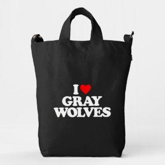 I LOVE GRAY WOLVES DUCK BAG