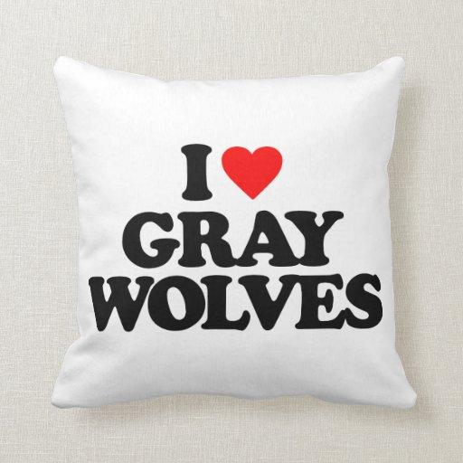 I LOVE GRAY WOLVES PILLOW