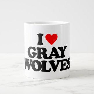 I LOVE GRAY WOLVES EXTRA LARGE MUG
