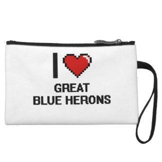 I love Great Blue Herons Digital Design Wristlets