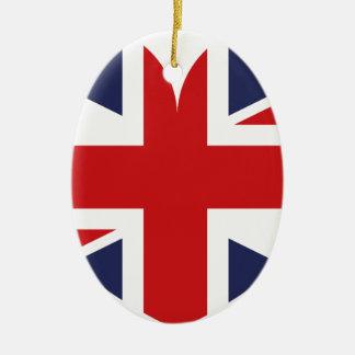 I love Great Britain Ceramic Ornament