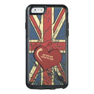 I Love Great Britain Distressed Flag OtterBox iPhone 6/6s Case