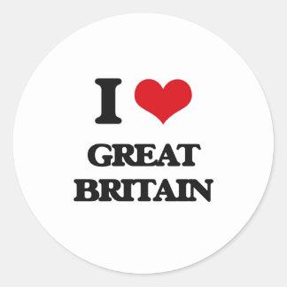 I love Great Britain Round Sticker