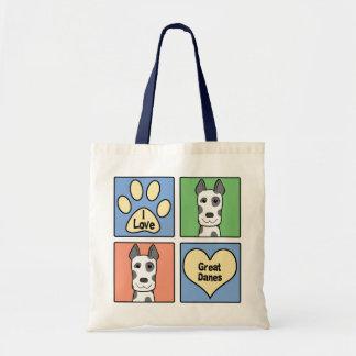 I Love Great Danes Budget Tote Bag