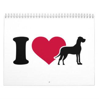 I love Great Danes Calendar