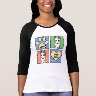 I Love Great Danes T Shirt