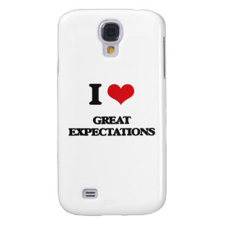 I love GREAT EXPECTATIONS Samsung Galaxy S4 Cases