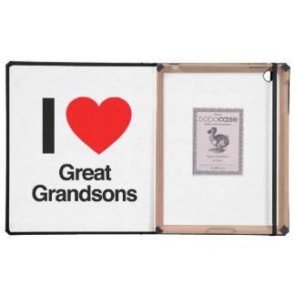 i love great grandsons iPad folio case