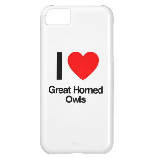 i love great horned owls iPhone 5C case