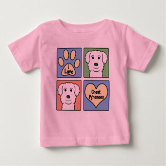I Love Great Pyrenees Baby T-Shirt