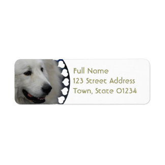 I Love Great Pyrenees Mailing Labels