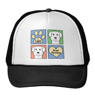 I Love Great Pyrenees Trucker Hat
