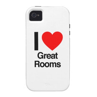 i love great rooms iPhone 4 covers