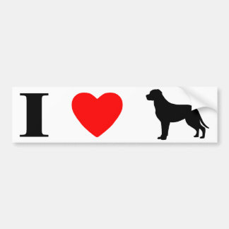 I Love Greater Swiss Mountain Dogs Bumper Sticker