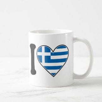 I Love Greece Coffee Mug