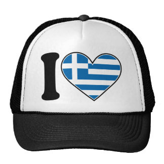 I Love Greece Hat