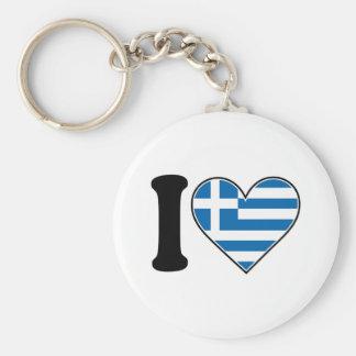 I Love Greece Keychain