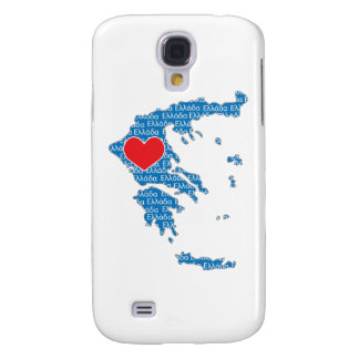 I Love Greece Map Galaxy S4 Cases