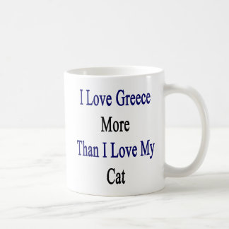 I Love Greece More Than I Love My Cat Coffee Mug