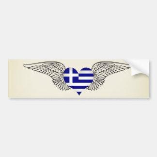 I Love Greece -wings Bumper Stickers