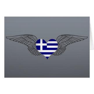 I Love Greece -wings Card