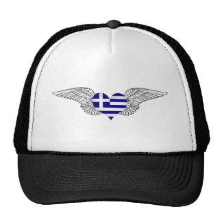 I Love Greece -wings Hats